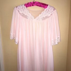 Shadow Line 2 Piece Pink Night Gown & Coverup